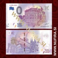 Spominski 0 Evro bankovec, Slovenija (Ljubljana)