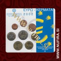 2002 Grčija BU SET (1c - 2 EUR)