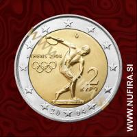 2004 Grčija 2 EUR (olimpijske igre)