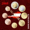 2005 Avstrija KMS SET (1c - 2 EUR)