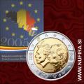 2005 Belgija 2 EUR (Ekonomska unija), Coin Card