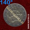2006 Belgija 2 EUR (Atomium), NAPAKA, obrnjen za 140°, (ZELO REDEK)
