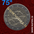 2006 Belgija 2 EUR (Atomium), NAPAKA, obrnjen za 75°, (ZELO REDEK)
