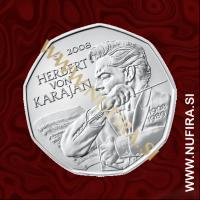 2008 Avstrija 5 EUR (Herbert von Karajan)