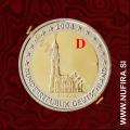 2008 Nemčija 2 EUR - D