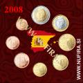 2008 Španija KMS SET (1c - 2 EUR)