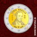 2009 Belgija 2 EUR (Louisa Braille)