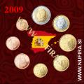 2009 Španija KMS SET (1c - 2 EUR)
