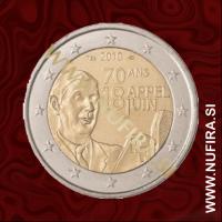 2010 Francija 2 EUR (Charles de Gaulle)