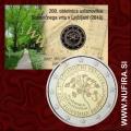 2010 Slovenija 2 EUR (Botanični vrt), kartica