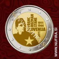2011 Slovenija 2 EUR (Franc Rozman - Stane)