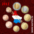 2012 Luksemburg KMS SET (1c - 2 EUR)