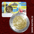 2012 Nizozemska 2 EUR (10 let), kartica