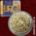 2012 Slovaška 2 EUR (10 let), kartica