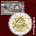 2012 Slovenija 2 EUR (10 let), kartica