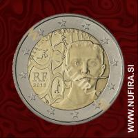 2013 Francija 2 EUR (Pierre de Coubertin)