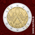 2014 Francija 2 EUR (AIDS)