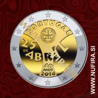 2014 Portugalska 2 EUR (40 let revolucije)