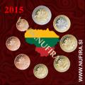 2015 Litva KMS SET (1c - 2 EUR)