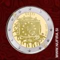 2015 Estonija 2 EUR (EU zastava)