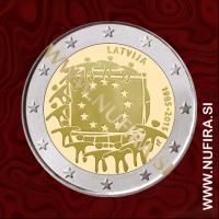 2015 Latvija 2 EUR (EU zastava)