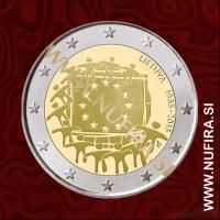 2015 Litva 2 EUR (EU zastava)