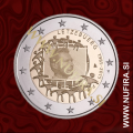 2015 Luksemburg 2 EUR (EU zastava)