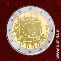 2015 Malta 2 EUR (EU zastava)