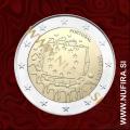 2015 Portugalska 2 EUR (EU zastava)