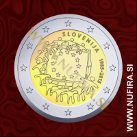 2015 Slovenija 2 EUR (EU zastava)