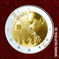 2016 Estonija 2 EUR (Paul Keres)