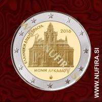 2016 Grčija 2 EUR (Arkadi Monastery)