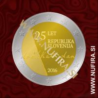 2016 Slovenija 2 EUR (Samostojna Slovenija)