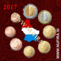 2017 Luksemburg KMS SET (1c - 2 EUR)