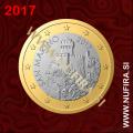 2017 San Marino 1 EUR (redni)