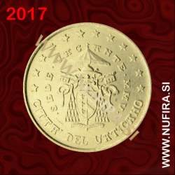 2017 Vatikan 0.50 EUR (50 centov) (redni)