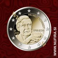 2018 Nemčija 2 EUR (Helmut Schmidt)