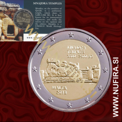 2018 Malta 2 EUR (Mnajdra Temples), Coin Card