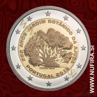 2018 Portugalska 2 EUR (Ajuda Botanical Garden)