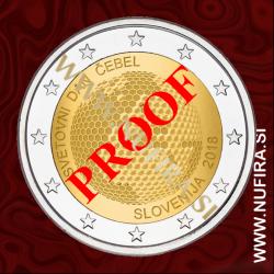 2018 Slovenija 2 EUR (Svetovni dan čebel), PROOF