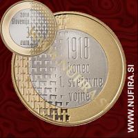 2018 Slovenija 3 EUR (Prva svetovna vojna)