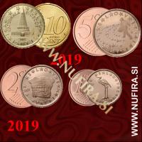 2019 Slovenija 10c, 5c, 2c, 1c