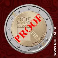 2019 Slovenija 2 EUR (Univerza v Ljubljani), PROOF