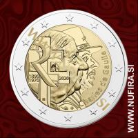 2020 Francija 2 EUR (Charles de Gaulle)
