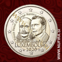 2020 Luksemburg 2 EUR (Birth of Prince Henry)