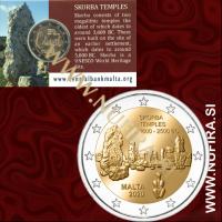 2020 Malta 2 EUR (Ta' Skorba Temples), Mint Mark, Coin Card