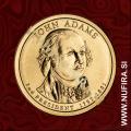 2007 Amerika 02. predsednik John Adams, 1 USD