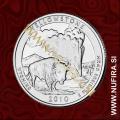 2010 Amerika 02. nacionalni park Yellowstone, 0.25 USD