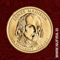 2007 Amerika 04. predsednik James Madison, 1 USD