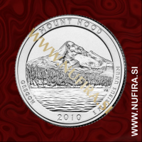 2010 Amerika 05. nacionalni park Mount Hood, 0.25 USD